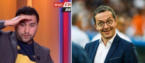 'Deux fans du PSG aux manettes', Nabil Djellit détruit la direction de l'OM. Montage Photo