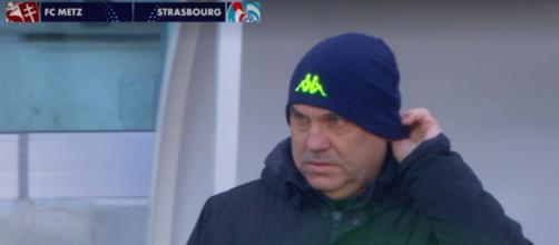 Les supporters du FC Metz et du Racing Club de Strasbourg -© capture d'écran match Metz / RCSA