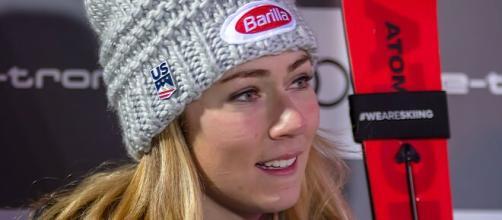 Mikaela Shiffrin, medaglia d'oro nella combinata.