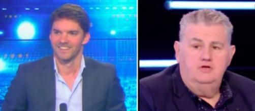 Pierre Ménès se paye les supporters de l'OM le petit fils de Bernard Tapie lui répond - ©capture d'écran Video et Twitter