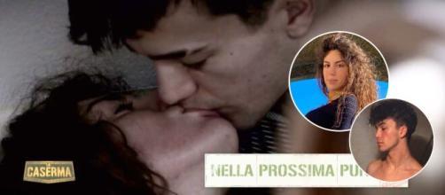 La Caserma, William Lapresa geloso di Elena Santoro: nell'immagine il loro primo bacio.