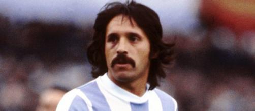 Leopoldo Luque con la maglia dell'Argentina ai Mondiali del 1978.