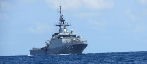 Operação internacional com apoio da Marinha do Brasil e Polícia Federal apreende carga com entorpecentes. (Divulgação/Marinha do Brasil)
