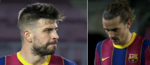 Vidéo: les insultes entre Piqué et Griezmann enflamment la toile. ©Capture écran
