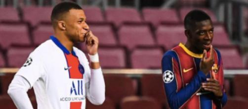Les messages Whatsapp des dirigeants du Barça préférant Dembélé à Mbappé fuitent. crédit photo instagram @mbappegoals7