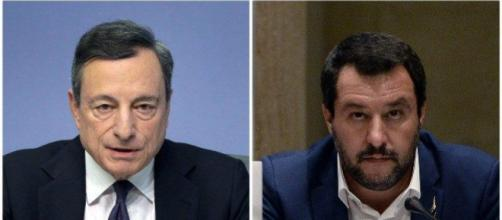 Mario Draghi gela Matteo Salvini sull'euro irreversibile.