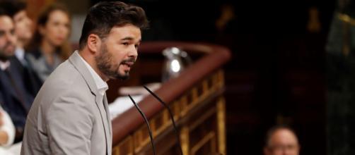 Rufián ha hecho un llamado para formar un 'frente amplio' soberanista