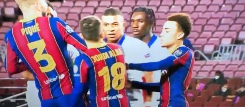 El futbolista del PSG Mbappé, amenazó gravemente a Jordi Alba