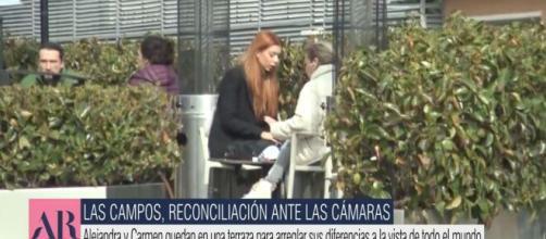 La tensa conversación de Alejandra Rubio y Carmen Borrego