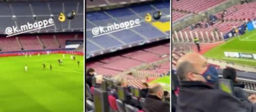 PSG : Leonardo se moque des dirigeants du FC Barcleone au Camp Nou, la vidéo fait le buzz. ©Capture écran