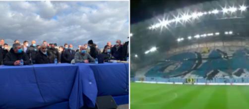 Les supporters de l'OM sont montés au front contre JHE - ©captures d'écran vidéo