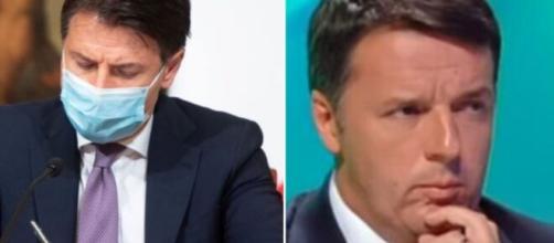 Giuseppe Conte e Matteo Renzi.