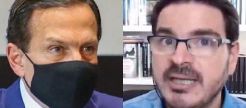 João Doria e Rodrigo Constantino trocam ofensas em rádio. (Fotomontagem)