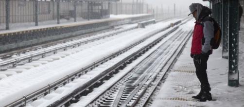 Nueva York, paralizada por una poderosa tormenta de nieve.