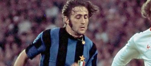 Mauro Bellugi con la maglia dell'Inter negli anni '70.