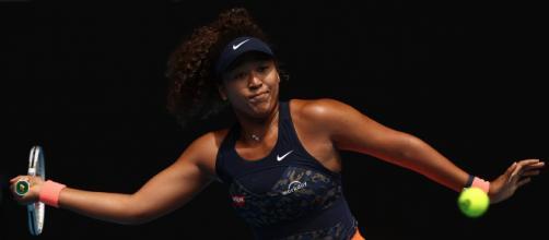 Naomi Osaka in azione agli Australian Open.