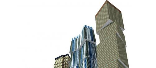 Frank Gehry rendering of proposed Toronto towers [credit: Flickr wyliepoon