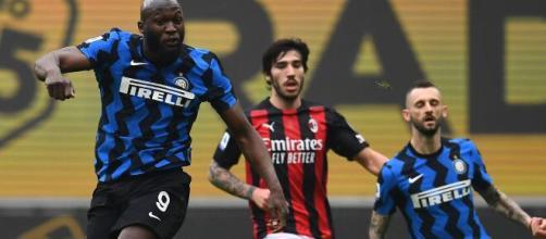 Lukaku a segno nel derby di Milano foto di twitter @inter