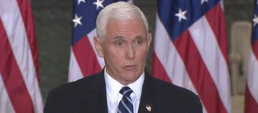 Former Vice President Mike Pence will not be at this year's CPAC. [Image Source: Trump White House Archived/YouTube]