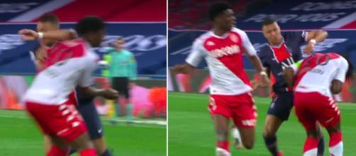 Le geste de Kylian Mbappé créé la polémique sur les réseaux sociaux - Photo captures d'écran vidéo Canal+