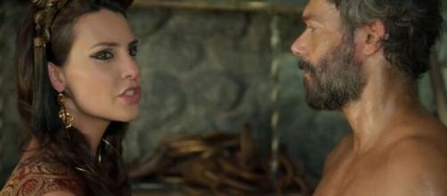 """Nadi e Terá em """"Gênesis"""". (Reprodução/RecordTV)"""