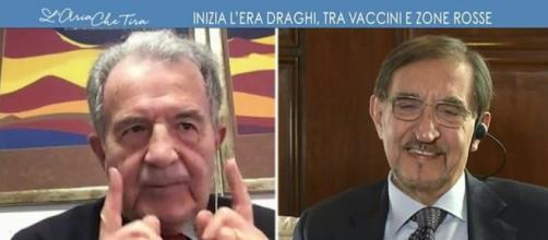 Romano Prodi e Ignazio La Russa (L'aria Che Tira)