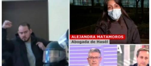 Alejandra Matamoros durante su participación en Cuatro dijo que los manifestantes están ejerciendo su derecho a expresarse.