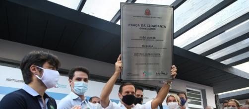 Doria e Gutti inauguram Praça da Cidadania em Guarulhos. (Divulgação/Governo de São Paulo)