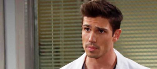 Finn warns Liam that he won't hurt Steffy ever again. [Image source: CBS]