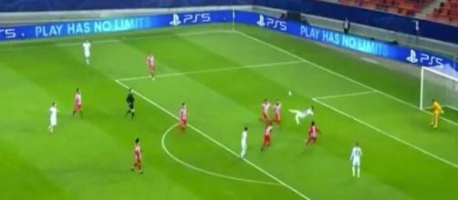 Giroud auteur d'un but magnifique face à l'Atlético. (capture)