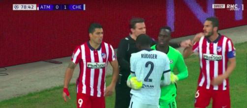 La vidéo du clash entre Suarez et Rudiger fait le buzz - Photo capture d'écran vidéo