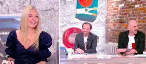 Le fou rire de Carine Galli et des chroniqueurs dans l'Equipe d'Estelle - photo capture d'écran vidéo