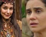 """Danina e Amat em """"Gênesis"""". (Fotomontagem/RecordTV)"""
