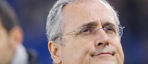 Claudio Lotito, presidente della Lazio.