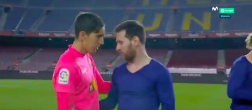 L'échange de maillots entre Messi et Badia fait le buzz sur les réseaux sociaux - Photo capture d'écran vidéo
