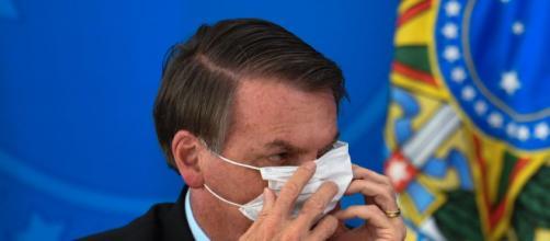 Bolsonaro questiona o uso de máscara. (Foto: Arquivo Blastingnews)