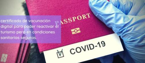 'Certificado de vacunación digital' para poder reactivar el turismo pero en condiciones sanitarias seguras.