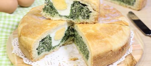 Torta di spinaci e ricotta, ideale per una scampagnata.