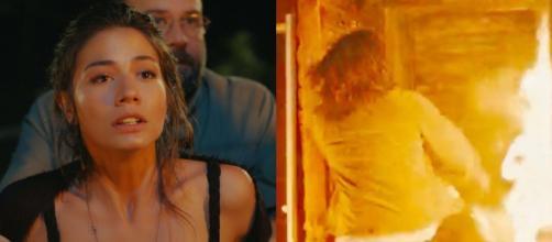 Daydreamer trame al 5 marzo: Can rischia la vita tra le fiamme, la scrittrice disperata.