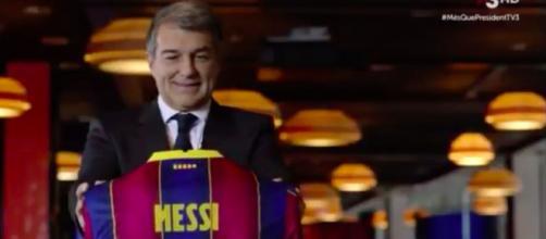 La vidéo de Laporta pour Messi fait le buzz - Photo capture d'écran vidéo
