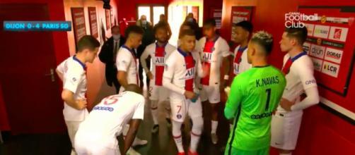 Les images de Mbappé dans le couloir de Dijon font le buzz - Photo capture d'écran vidéo Canal+