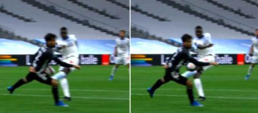 Les supporters lyonnais dézinguent l'arbitrage de BENOÎT MILLOT - Photo capture d'écran match Canal+