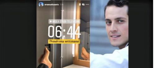 Salvatore de Il Paradiso delle signore (l'attore Emanuel Caserio) annuncia su Instagram la penultima settimana di riprese.