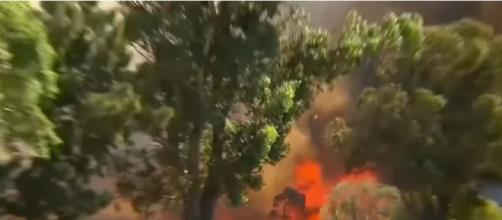 Bushfire burns through Forrestdale in Perth's south. ©Nine News Australia YouTube video]