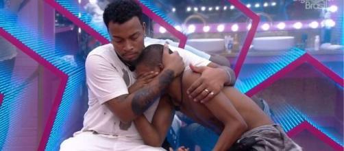 Nego Di e Lucas eram amigos no 'BBB 21'. (Reprodução/TV Globo)