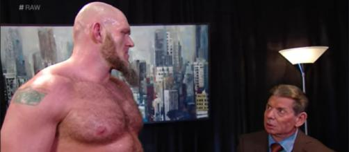 WWE superstar Lars Sullivan just got axed from the sports entertainment company. [©WWE/YouTube]