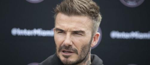 David Beckham, ex jugador del Real Madrid, durante un evento del Inter de Miami, franquicia de la que es dueño
