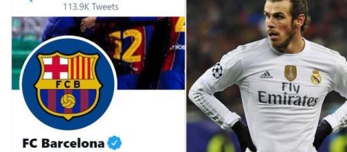 Le FC Barcelone aurait trollé Gareth Bale après sa victoire en Coupe d'Espagne. ©Montage FC Barcelona Twitter Capture/ garethbale11 Instagram