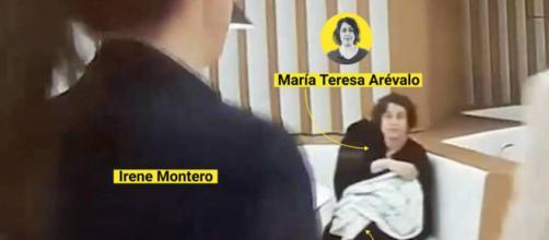 Teresa Arévalo Caraballo en el ministerio con la hija de Irene Montero en brazos