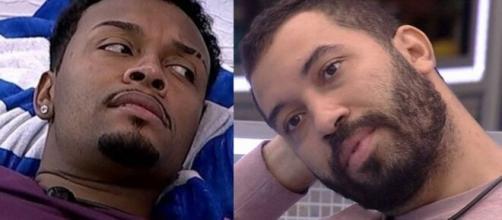Nego Di e Gilberto no 'BBB21'. (Reprodução/TV Globo)